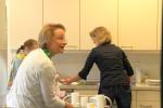 Auch in der Küche herrscht Hochbetrieb