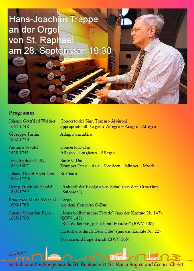 Orgelkonzert in St. Raphael