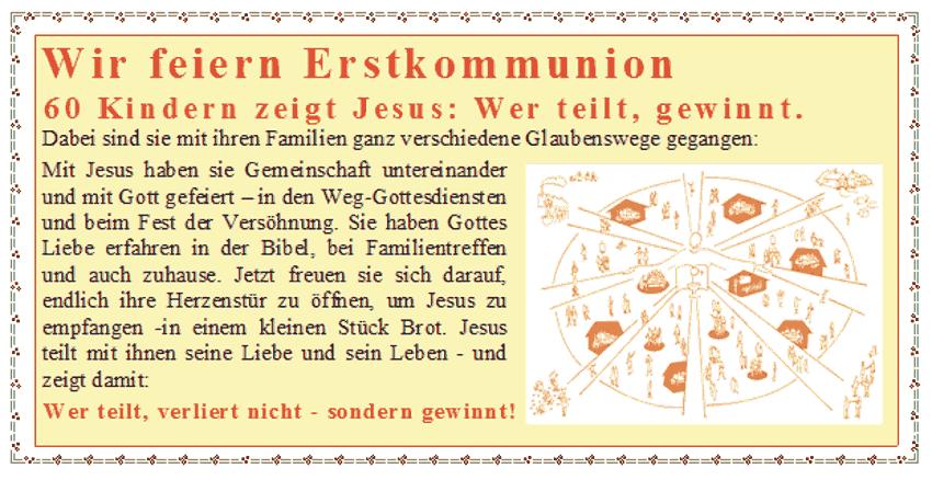 Erstkommunion 2015